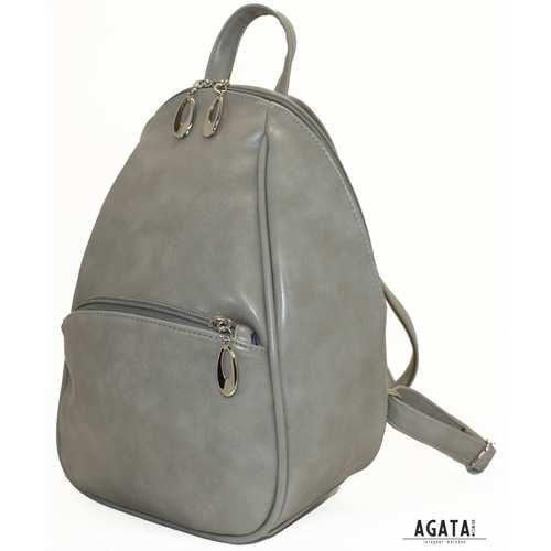 406 рюкзак світло сірий