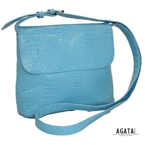 345 сумка крокодил блакитна