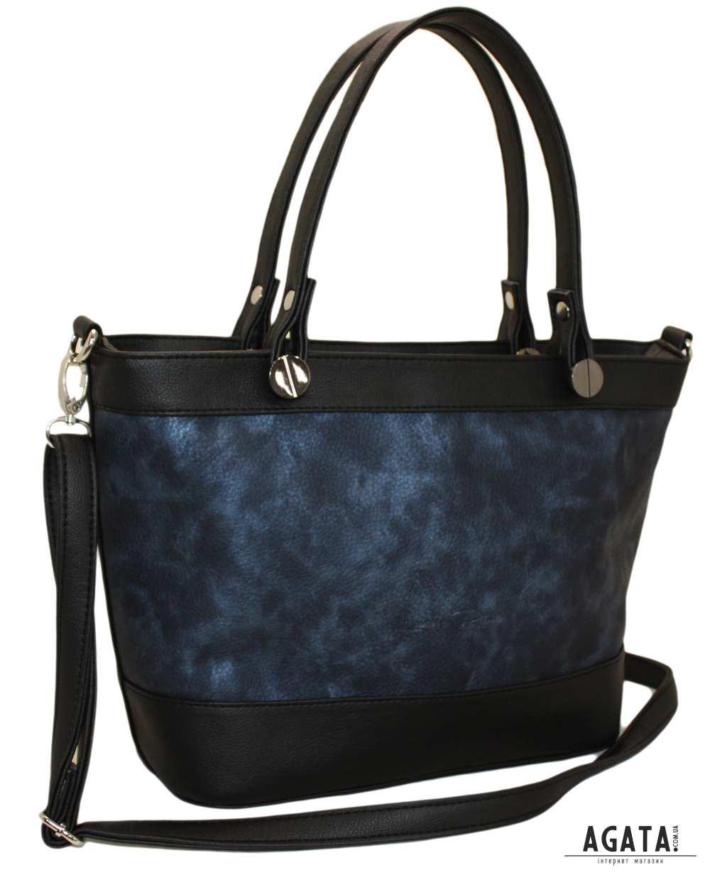 497 сумка чорна синя