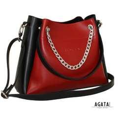 Сумка жіноча (М 511) чорно червона. 488грн Купити a2a5c816e2083