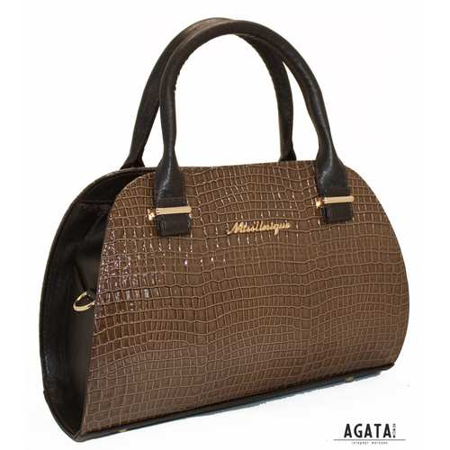 268 сумка крокодил коричнева